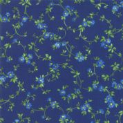 Moda - Summer Breeze 2019 - 7090 - Blue Floral Vine on Dark Blue - 33445 16 - Cotton Fabric